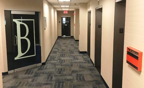 65 Broadway 5th fl hallway carpet tiles
