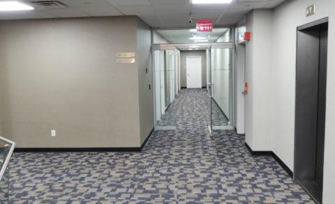 65 Broadway 8th floor corridor
