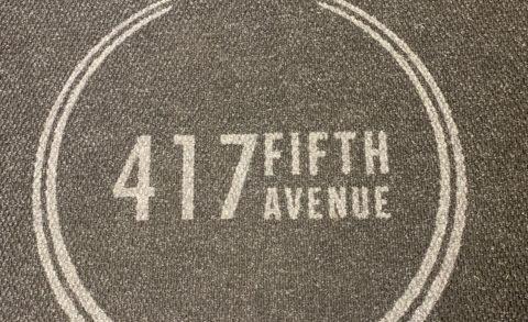417 Fifth Ave elevator logo mats