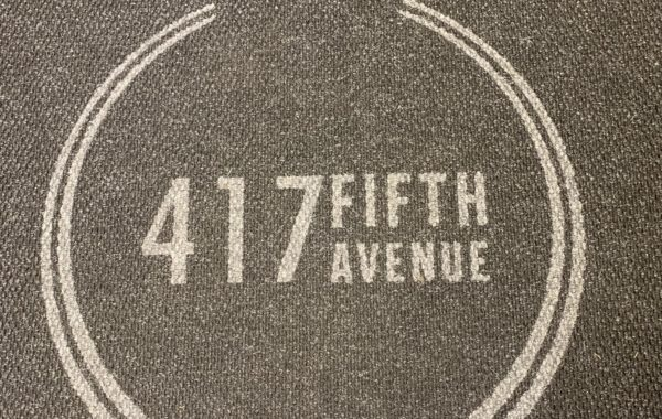 417 Fifth Ave elevator logo mats